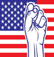 fist american flag resize vector image vector image
