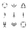 flake icons set simple style vector image