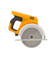 flat icon of circular saw with steel vector image
