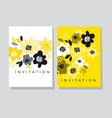 floral abstract card template vector image vector image