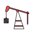 fracking oil rig drilling weight equipment vector image