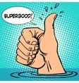 Gesture all well thumb up hand sink optimism vector image