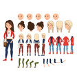 girl character creation set vector image vector image