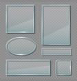 glass panels acrylic transparent reflective vector image