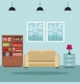 home living room interior vector image vector image