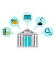 icon all banking services cash operations vector image vector image
