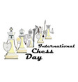 international chess day with vector image vector image