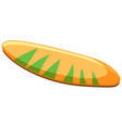 isolated tropical surfboard on white background vector image