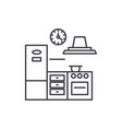 kitchen line icon concept kitchen linear vector image vector image