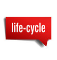 life-cycle red 3d speech bubble vector image vector image