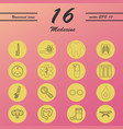 medicine and health care thin icons set vector image vector image
