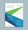 modern green and blue business brochure flyer vector image vector image