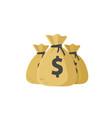 money bags flat cartoon bags vector image vector image