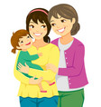 mothers and daughters vector image vector image