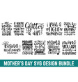 mothers cut file bundle day svg womens vector image vector image