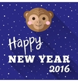 New Year 2016 poster design with little chimp and vector image