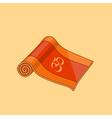 orange cartoon yoga mat vector image