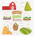 organic farming cartoons vector image
