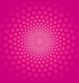 pink circular background with polka dots vector image