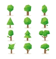 Polygonal trees vector image
