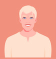 portrait a smiling man with blue eyes vector image vector image