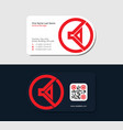red business card for pr manager vector image vector image