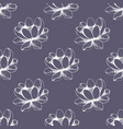 Seamless floral pattern hand drawing
