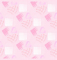seamless pattern of different types of hearts vector image vector image