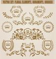set of golden monograms vector image