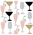 Set of hand drawn alcoholic drinks cocktails vector image vector image
