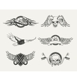Set of motorcycle emblems badges labels and vector image vector image