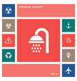 shower icon symbol elements for your design vector image