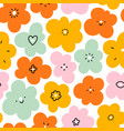 simple fun abstract floral doodle pattern big vector image vector image