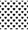 simple heart shape seamless pattern in diagonal vector image