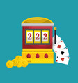 slots machine casino icon vector image