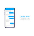 smart phone with messenger chat screen modern vector image
