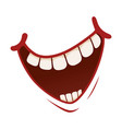 smile icon pleased kind or amused face vector image vector image