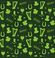 st patricks day hand drawn seamless pattern with vector image