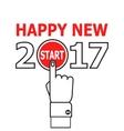 Start new year 2017 idea vector image vector image