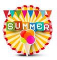 Summer Retro Label Vintage Orange Circle Sticker vector image