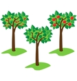 summer trees vector image vector image
