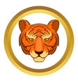 Tiger head icon vector image