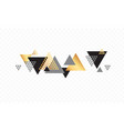 triangle abstract golden background vector image vector image