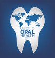 world oral health day logo icon design vector image vector image