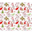 Xmas objects seamless pattern vector image vector image