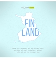 finland map in vintage design Finnish vector image