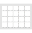 20 pieces square blank sheet of white paper with vector image