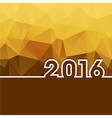 2016 New Year on golden polygonal background vector image vector image