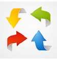 Abstract red blue green yellow Arrows Set vector image vector image