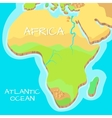 Africa Isometric Map with Natural Attractions vector image vector image